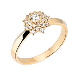 "<b><font color=""b400b0"" >[Part 1 Contemporary Emotion]</font></b> <br> 14K / 18KVerus Part 1 Diamond Ring"