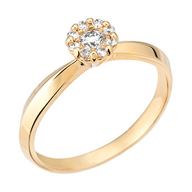 "<b><font color=""b400b0"" >[Part 1 Contemporary Emotion]</font></b> <br> 14K / 18K Suit Dream 1 part Diamond ring [No. 11 only overnightdelivery]"