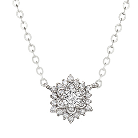 "<b><font color=""b400b0"" >[Part 1 Modern emotions]</font></b> <br> 14K18K Ipanema 0.1ct diamond necklace"