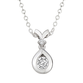"<b><font color=""b400b0"" >[Part 1 Contemporary Emotion]</font></b> <br> 14K18K Morning Dew 0.1ct Diamond Necklace"