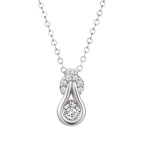 "<b><font color=""b400b0"" >[Part 1 Contemporary Emotion]</font></b> <br> 14K18K Rhythm And Blues 0.1ct Diamond Necklace"