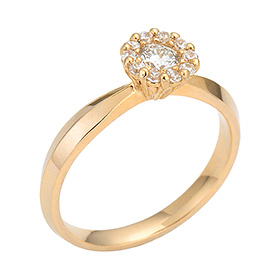 "<b><font color=""b400b0"" >[Part 2 Contemporary Emotion]</font></b> <br> 14K18K Suit Dream 0.2ct Diamond Ring [No. 11 only overnightdelivery]"