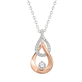 "<b><font color=""b400b0"" >[Part 1 Modern emotions]</font></b> <br> 14K18K Link Drop 0.1ct Diamond Necklace"