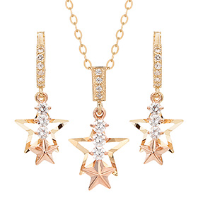 14K / 18K Starlight set [Necklace + earring]