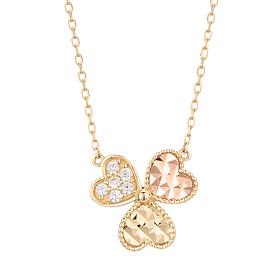 18K Funky Clover Necklace