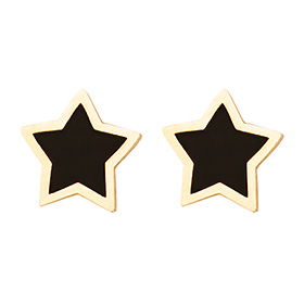 14K lycis star earring [overnightdelivery]