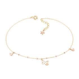 18k Annie Butterfly anklet