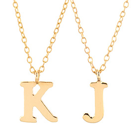 14k / 18k Simple Initial Necklace