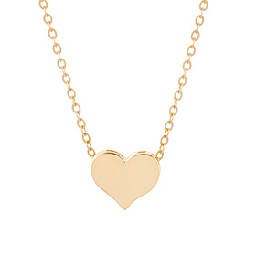 14K / 18K Lily Heart Double Sided Necklace [overnightdelivery]