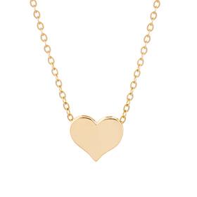 14K / 18K Lily Heart Double Sided Necklace [overnightdelivery]