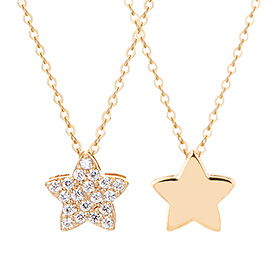 14K / 18K Lily Star Double Sided Necklace