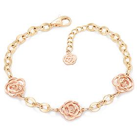 14K / 18K Rina Rose bracelet (overnightdelivery)
