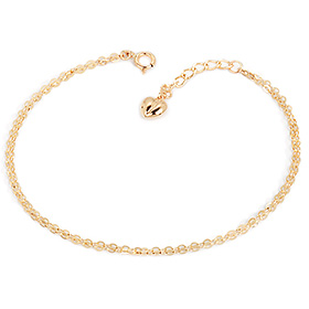 14K / 18K Wave Tong Heart two lines bracelet [overnightdelivery]