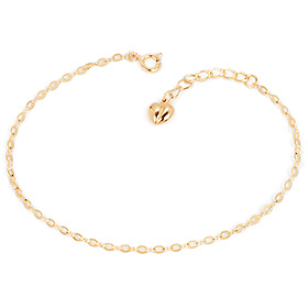 14K / 18K wave tongue heart one piece bracelet [overnightdelivery]
