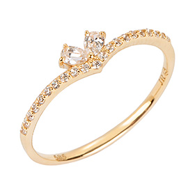 14K / 18K Sarah Heart Gold Ring