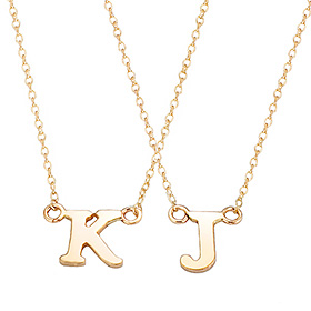 14K / 18K Integral Simple Initial Necklace