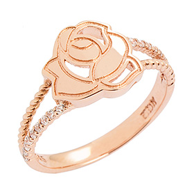 14K / 18K Shining Rose Gold Ring