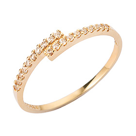 14K / 18K Pixel Line Gold Ring