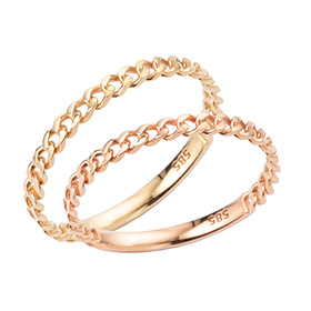 14K / 18K Storm Chain Gold Ring
