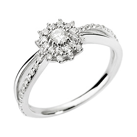 14K18K Iberian part 1 diamond ring [No. 11 only overnightdelivery]