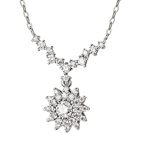 "<b><font color=""b400b0"" >[Part 1 Contemporary Emotion]</font></b> <br> 14K / 18K Iberis Part 1 Diamond Necklace"