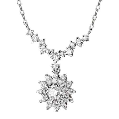 """<b><font color=""""b400b0"""" >[Part 1 Contemporary Emotion]</font></b> <br> 14K / 18K Iberian Part 1 Diamond Necklace"""