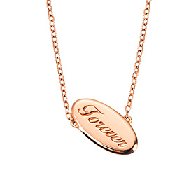 14k / 18k Forever Shadow Initial Necklace