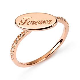 14k / 18k Forever Shadow Initial Rings