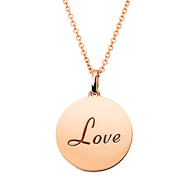 14k / 18k Love Coin Initial Necklace