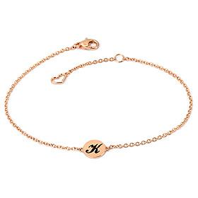 14K / 18K Forever Coin Initial Bracelet