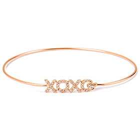 14K / 18K Hug and Kiss Bangle Bracelet