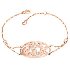 14K / 18K Monogram Initial Monogram Initial Bracelet