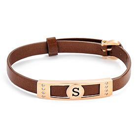 14K / 18K Corona Watch Initial Bracelet