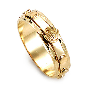 14K / 18K R196 Piece Rotating Rosary Ring