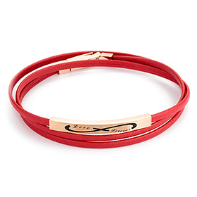 14K / 18K Mourin Rouge (Infinity) triple initial bracelet