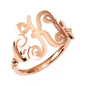14k / 18k Monogram Mixing Initial Rings (large)