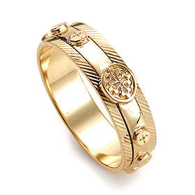 14K / 18K R201 piece rotating rosary ring