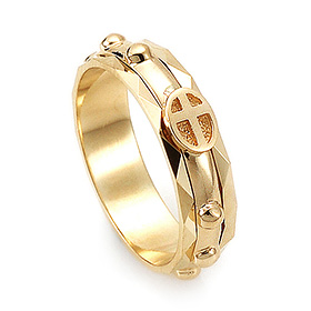 14K / 18K R160 piece rotating rosary ring