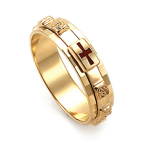 14K / 18K R162 piece rotating rosary ring