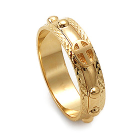 14K / 18K R154 piece rotating rosary ring