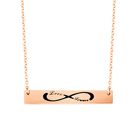 14k / 18k InfinityW Initial Necklace
