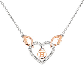 14k / 18k Love Angel Initial Necklace
