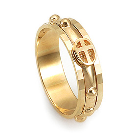 14K / 18K R155 piece rotating rosary ring