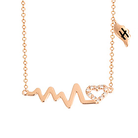 14k / 18k Love Quiver Initials Necklace