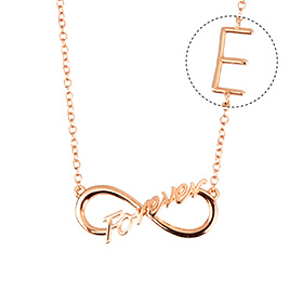 14k / 18k Eternal Promise Initial Necklace