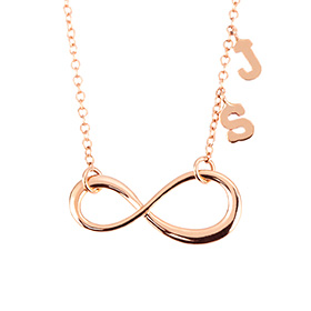14k / 18k End Love Initials Necklace