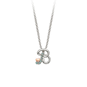 18k pinkheart Initial Necklace (A to Z)
