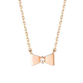 18K mini bow Necklace [overnightdelivery]
