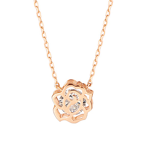 14k / 18k Rose Girl Necklace [overnightdelivery]