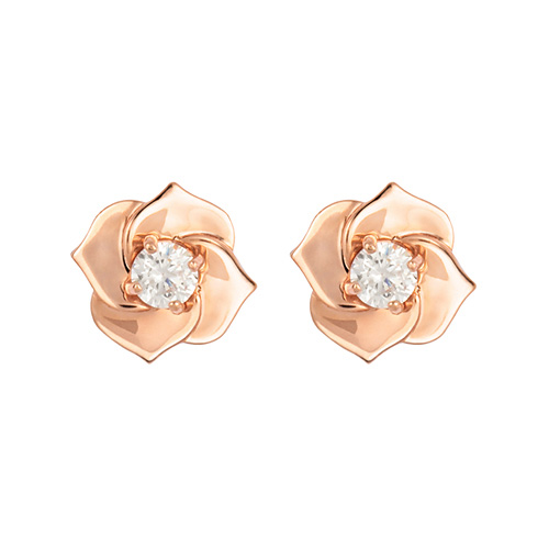 14K Bain Rose -Pink earring [overnightdelivery]